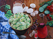 Brunch Paintings - Hungrig by Martha Cervantes
