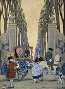 Pleading Framed Prints - Illustration from Les Liaisons Dangereuses  Framed Print by Georges Barbier