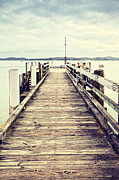Jetty Prints - Jetty at Maraetai Beach Auckland New Zealand Print by Colin and Linda McKie