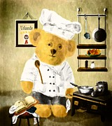 Johnny The Chef Fine Art Print by Mandy Tabatt