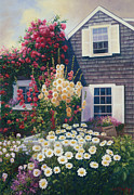Atlantic Beaches Painting Prints - Julias Garden Print by OMalley Keyes