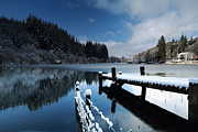 Jetty View Park Prints - Loch Ard in Winter Print by Maria Gaellman
