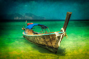 Wooden Digital Art - Longboat Thailand by Adrian Evans