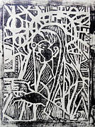 Woodcut Originals - Madonna with a Gun by E Dan Barker