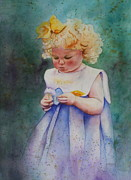 Patsy Sharpe Painting Prints - Maggies Dandelion Print by Patsy Sharpe