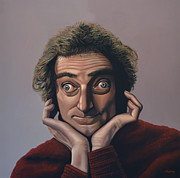 At Work Painting Prints - Marty Feldman Print by Paul  Meijering