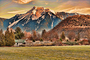 Lawrence Christopher Metal Prints - Mount Cheam From The North Side Of The Fraser River Metal Print by Lawrence Christopher
