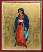 Egg Tempera Painting Prints - Our Lady of Guadalupe I Print by Ilse Wefers