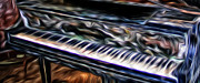 Grand Piano Digital Art - Out of Tune by Michael Rigamer