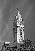 Land Love And Sky Prints - Philadelphia City Hall Tower Print by Susan Candelario