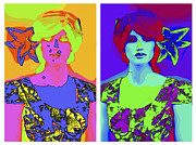 Model Mixed Media Posters - Pop Art Girl Poster by Stefan Kuhn