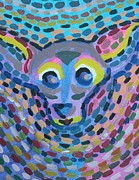 Chihuahua Abstract Art Paintings - Pride Dog by Alexandra Brisson