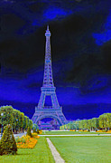 Purple Eiffel Print by Chuck Staley