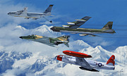 B-52 Prints - Refuel over Alaska Print by Dale Jackson