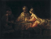 Ahasuerus Framed Prints - Rembrandt, Harmenszoon Van Rijn, Called Framed Print by Everett