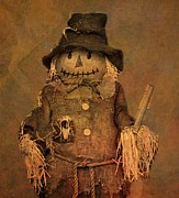 Straw Hat Mixed Media Posters - Scarecrow Poster by Dan Sproul