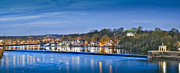 David  Zanzinger - Schuylkill River  Boathouse Row Lit at...