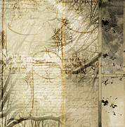 J.p. Mixed Media Prints - Script II Print by Yanni Theodorou