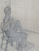 Chair Drawings Originals - Seated by Erika Chamberlin