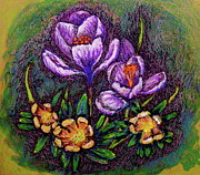 Color Purple Pastels Posters - Spring Poster by Linda Simon