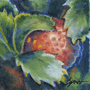 Strawberry Art Framed Prints - Strawberry Framed Print by Alexandra Spencer