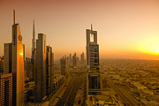 Fototrav Print - Sunset on Dubai Skyline