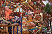 Adventure Tapestries Textiles - The Attic by Steve Crisp