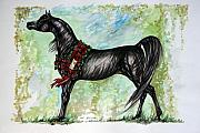 Wild Horse Drawings Posters - The Champion Poster by Angel  Tarantella