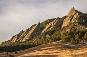 Technical Metal Prints - The Flatirons 2 Metal Print by Aaron Spong