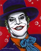 Actors Framed Prints - The Joker Framed Print by Alicia Hayes