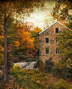 Rustic Mill Framed Prints - The Stone Mill  Framed Print by Jessica Jenney