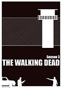 The Walking Dead Prints - The Walking Dead season 3 poster. Print by Cameron Gillum