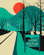 Jazzberry Blue - Twin Peaks Travel Poster