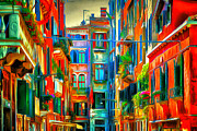 Gondolier Framed Prints - Venice Architecture 2 Framed Print by Yury Malkov