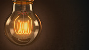 Electronic Digital Art - Vintage Hanging Light Bulb by Scott Norris