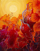 Tendrils Paintings - Wine on the Vine II by Sandi Whetzel