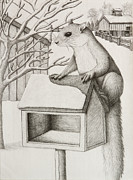 Jeanette Kabat - Winter Squirrel