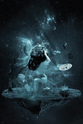 Abstract Earth Posters - World on my shoulders Poster by Erik Brede