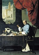 Desk Posters - Zurbaran, Francisco De 1598-1664. Fray Poster by Everett