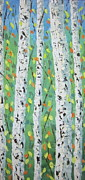 South Of France Painting Originals - Aspen Trees Colorado by Frederic Payet