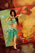 Belly Dance Paintings - Belly Dancer by Corporate Art Task Force