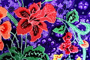 Beauty Tapestries - Textiles - Colorful batik cloth fabric background  by Prakasit Khuansuwan