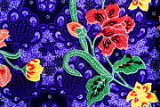 Traditional Culture Tapestries - Textiles - Colorful batik cloth fabric background  by Prakasit Khuansuwan