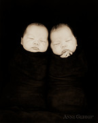 Twins Framed Prints - Untitled Framed Print by Anne Geddes