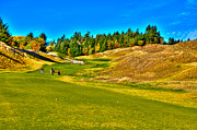 Us Open Art - #12 at Chambers Bay Golf Course - Location of the 2015 U.S. Open Championship by David Patterson