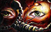 Surrealism Metal Prints - 12 signs series Scorpio Metal Print by Hiroko Sakai