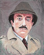 Trench Paintings - #13-28 Peter Sellers as Inspector Clouseau by Dane Tate