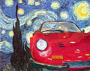 Vangogh Originals - 131104 BlueChip Ferrari Dino246 rossa VanGogh tribute by BlueChip Luigi Gallone