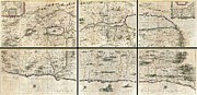 River.etc. Prints - 1662 Jansson and Hornius Map of the Holy Land Israel and Palestine Print by Paul Fearn