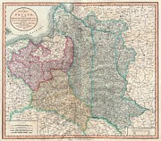 In The End I Posters - 1799 Cary Map of Poland Prussia and Lithuania  Poster by Paul Fearn